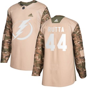 Jan Rutta Tampa Bay Lightning Men's Adidas Authentic Camo Veterans Day Practice Jersey