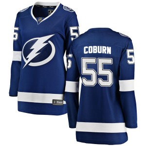 Braydon Coburn Tampa Bay Lightning Women's Fanatics Branded Blue Breakaway Home Jersey