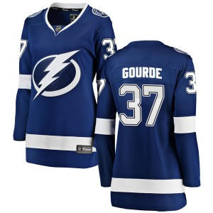 Yanni Gourde Tampa Bay Lightning Women's Fanatics Branded Blue Breakaway Home Jersey