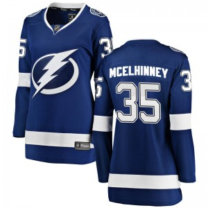 Curtis McElhinney Tampa Bay Lightning Women's Fanatics Branded Blue Breakaway Home Jersey
