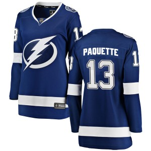 Cedric Paquette Tampa Bay Lightning Women's Fanatics Branded Blue Breakaway Home Jersey
