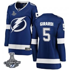 Dan Girardi Tampa Bay Lightning Women's Fanatics Branded Blue Breakaway Home 2020 Stanley Cup Champions Jersey