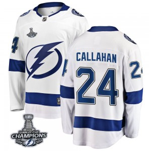 Ryan Callahan Tampa Bay Lightning Youth Fanatics Branded White Breakaway Away 2020 Stanley Cup Champions Jersey