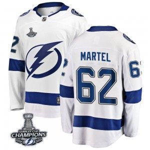 Danick Martel Tampa Bay Lightning Youth Fanatics Branded White Breakaway Away 2020 Stanley Cup Champions Jersey