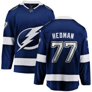 Victor Hedman Tampa Bay Lightning Men's Fanatics Branded Blue Home Breakaway Jersey