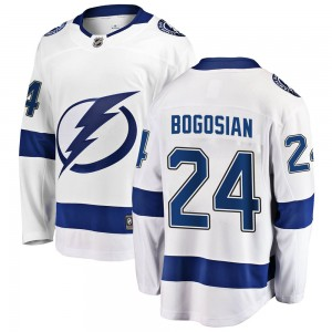 Zach Bogosian Tampa Bay Lightning Men's Fanatics Branded White ized Breakaway Away Jersey