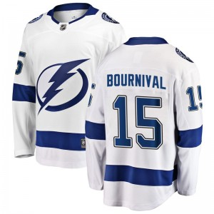 Michael Bournival Tampa Bay Lightning Men's Fanatics Branded White Breakaway Away Jersey