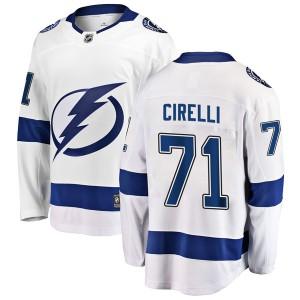 Anthony Cirelli Tampa Bay Lightning Men's Fanatics Branded White Breakaway Away Jersey