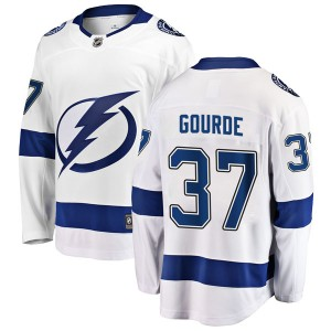 Yanni Gourde Tampa Bay Lightning Men's Fanatics Branded White Breakaway Away Jersey