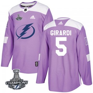 Dan Girardi Tampa Bay Lightning Youth Adidas Authentic Purple Fights Cancer Practice 2020 Stanley Cup Champions Jersey