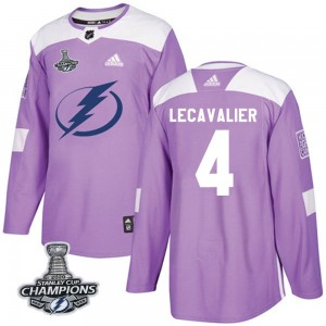 Vincent Lecavalier Tampa Bay Lightning Youth Adidas Authentic Purple Fights Cancer Practice 2020 Stanley Cup Champions Jersey