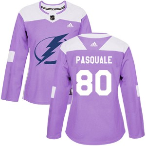 Eddie Pasquale Tampa Bay Lightning Women's Adidas Authentic Purple Fights Cancer Practice Jersey