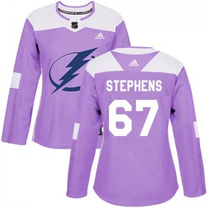 Mitchell Stephens Tampa Bay Lightning Women's Adidas Authentic Purple Fights Cancer Practice Jersey