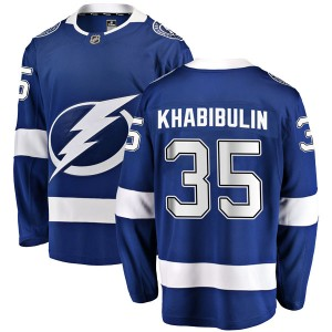 Nikolai Khabibulin Tampa Bay Lightning Men's Fanatics Branded Blue Breakaway Home Jersey