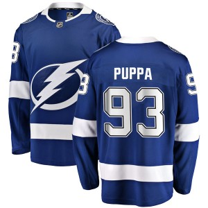 Daren Puppa Tampa Bay Lightning Men's Fanatics Branded Blue Breakaway Home Jersey