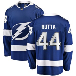 Jan Rutta Tampa Bay Lightning Men's Fanatics Branded Blue Breakaway Home Jersey