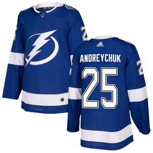 Dave Andreychuk Tampa Bay Lightning Men's Adidas Authentic Blue Home Jersey