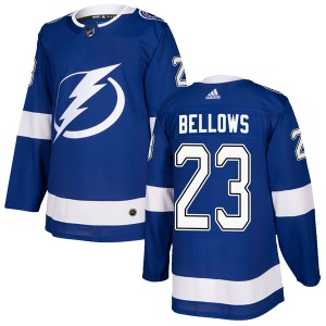 Brian Bellows Tampa Bay Lightning Men's Adidas Authentic Blue Home Jersey