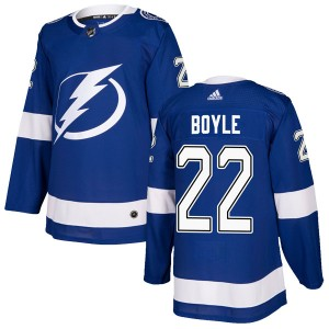 Dan Boyle Tampa Bay Lightning Men's Adidas Authentic Blue Home Jersey