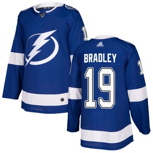 Brian Bradley Tampa Bay Lightning Men's Adidas Authentic Blue Home Jersey