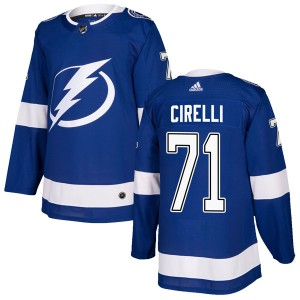 Anthony Cirelli Tampa Bay Lightning Men's Adidas Authentic Blue Home Jersey