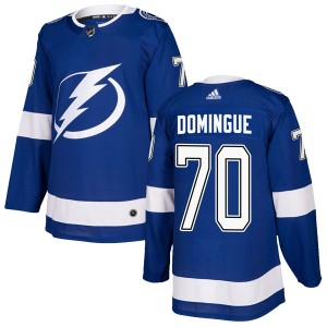 Louis Domingue Tampa Bay Lightning Men's Adidas Authentic Blue Home Jersey