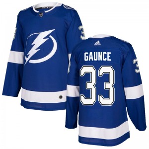 Cameron Gaunce Tampa Bay Lightning Men's Adidas Authentic Blue Home Jersey