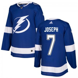 Mathieu Joseph Tampa Bay Lightning Men's Adidas Authentic Blue Home Jersey