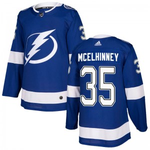 Curtis McElhinney Tampa Bay Lightning Men's Adidas Authentic Blue Home Jersey