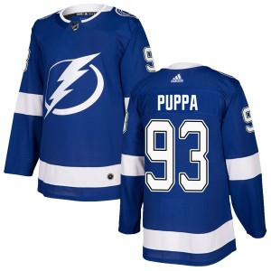 Daren Puppa Tampa Bay Lightning Men's Adidas Authentic Blue Home Jersey