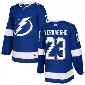 Carter Verhaeghe Tampa Bay Lightning Men's Adidas Authentic Blue Home Jersey