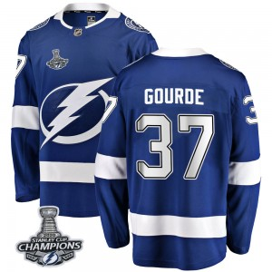 Yanni Gourde Tampa Bay Lightning Youth Fanatics Branded Blue Breakaway Home 2020 Stanley Cup Champions Jersey