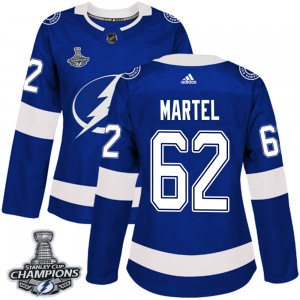 Danick Martel Tampa Bay Lightning Women's Adidas Authentic Blue Home 2020 Stanley Cup Champions Jersey