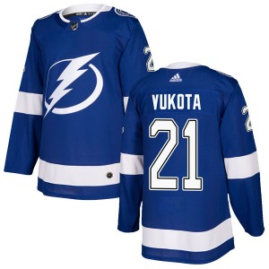 Mick Vukota Tampa Bay Lightning Youth Adidas Authentic Blue Home Jersey