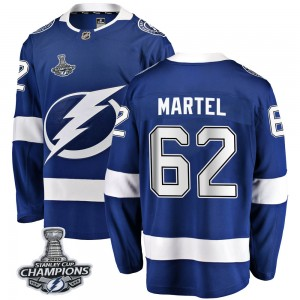 Danick Martel Tampa Bay Lightning Men's Fanatics Branded Blue Breakaway Home 2020 Stanley Cup Champions Jersey