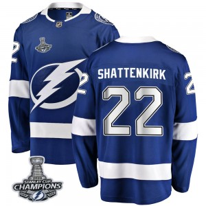 Kevin Shattenkirk Tampa Bay Lightning Men's Fanatics Branded Blue Breakaway Home 2020 Stanley Cup Champions Jersey