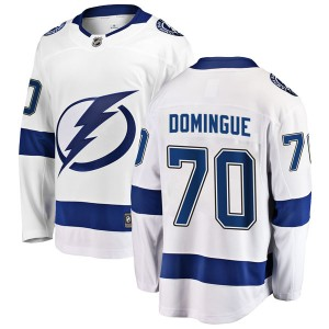 Louis Domingue Tampa Bay Lightning Youth Fanatics Branded White Breakaway Away Jersey