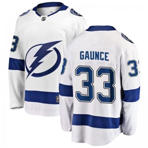 Cameron Gaunce Tampa Bay Lightning Youth Fanatics Branded White Breakaway Away Jersey