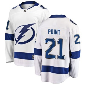 Brayden Point Tampa Bay Lightning Youth Fanatics Branded White Breakaway Away Jersey