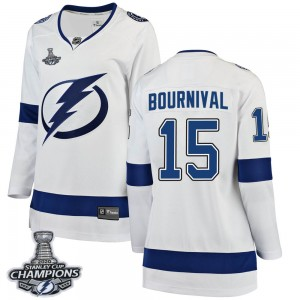Michael Bournival Tampa Bay Lightning Women's Fanatics Branded White Breakaway Away 2020 Stanley Cup Champions Jersey
