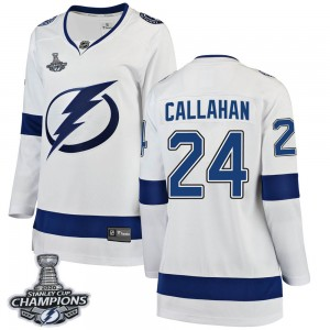 Ryan Callahan Tampa Bay Lightning Women's Fanatics Branded White Breakaway Away 2020 Stanley Cup Champions Jersey