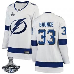 Cameron Gaunce Tampa Bay Lightning Women's Fanatics Branded White Breakaway Away 2020 Stanley Cup Champions Jersey