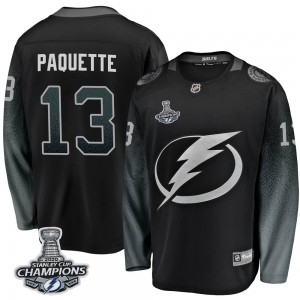Cedric Paquette Tampa Bay Lightning Youth Fanatics Branded Black Breakaway Alternate 2020 Stanley Cup Champions Jersey