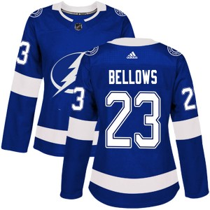Brian Bellows Tampa Bay Lightning Women's Adidas Authentic Blue Home Jersey