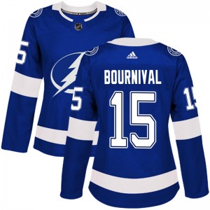 Michael Bournival Tampa Bay Lightning Women's Adidas Authentic Blue Home Jersey