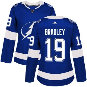 Brian Bradley Tampa Bay Lightning Women's Adidas Authentic Blue Home Jersey