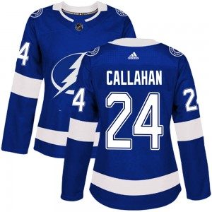 Ryan Callahan Tampa Bay Lightning Women's Adidas Authentic Blue Home Jersey