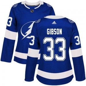 Christopher Gibson Tampa Bay Lightning Women's Adidas Authentic Blue Home Jersey
