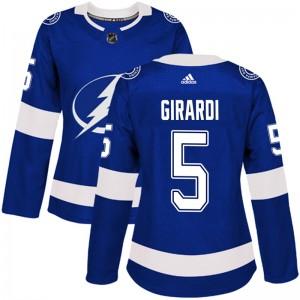 Dan Girardi Tampa Bay Lightning Women's Adidas Authentic Blue Home Jersey