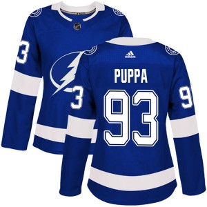 Daren Puppa Tampa Bay Lightning Women's Adidas Authentic Blue Home Jersey